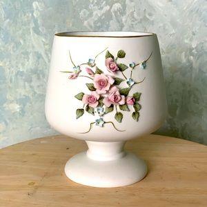 Lefton China Hand Painted Vase